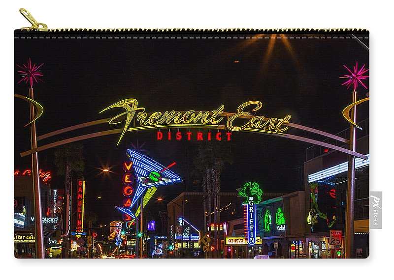 Las Vegas Carry-all Pouch featuring the photograph Fremont Street East by Angus Hooper Iii
