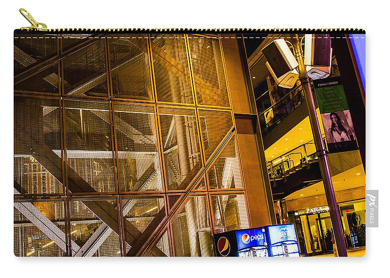 Las Vegas Carry-all Pouch featuring the photograph Fremont Street Structure by Angus Hooper Iii
