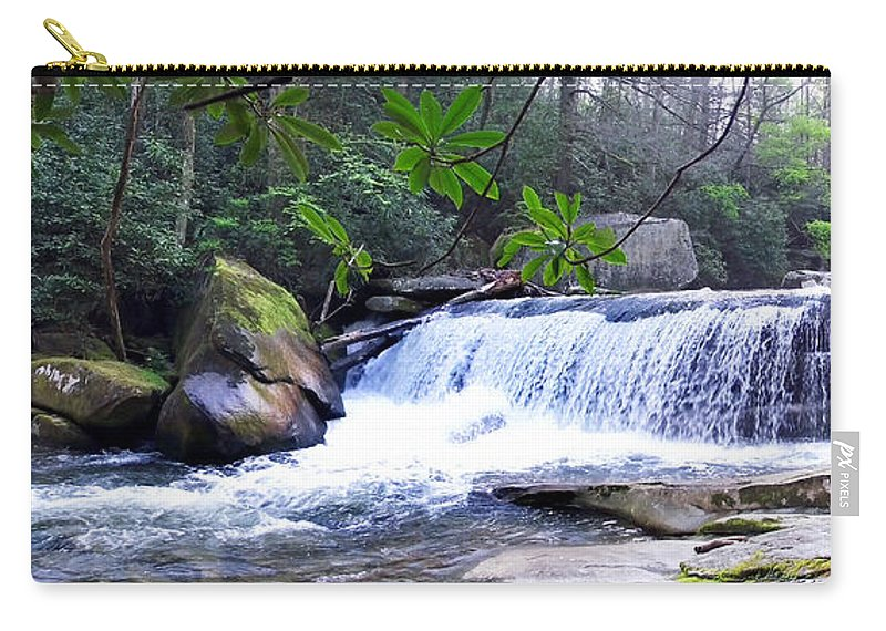 Duane Mccullough Carry-all Pouch featuring the photograph French Broad River Waterfall by Duane McCullough