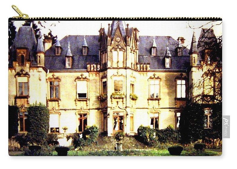 French Chateau 1955 Carry-all Pouch featuring the photograph French Chateau 1955 by Will Borden