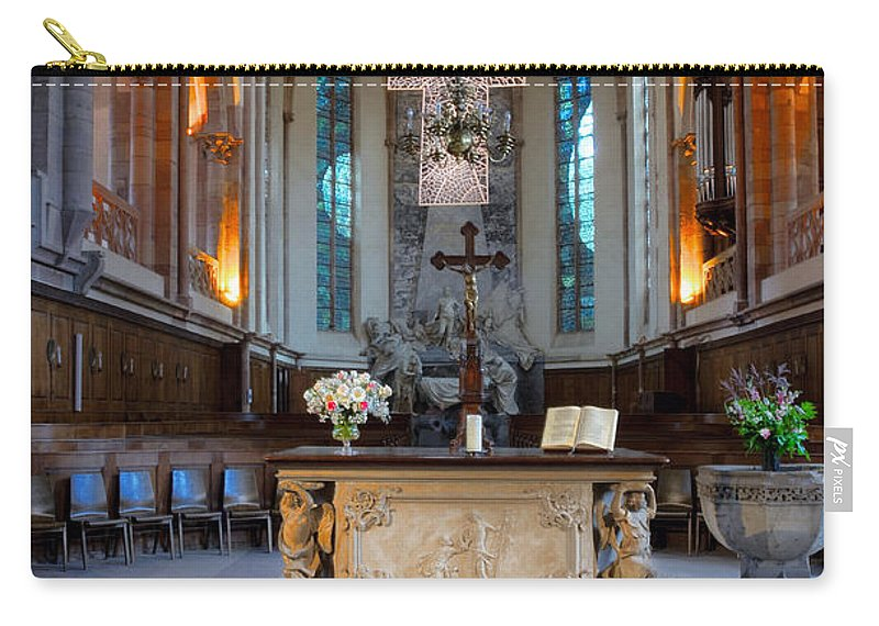 Church Carry-all Pouch featuring the photograph French Church Alter by Dave Mills