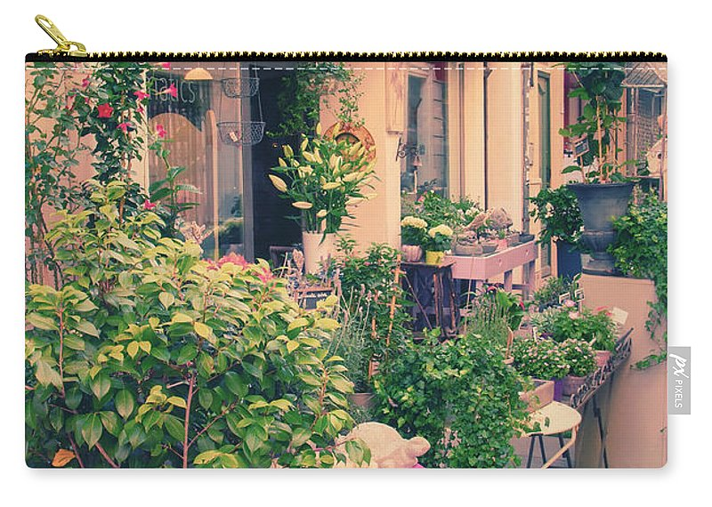 France Carry-all Pouch featuring the photograph French Floral Shop by Jaroslav Frank
