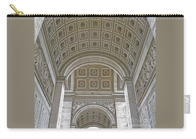 Arc De Triomphe Carry-all Pouch featuring the photograph French History by Ann Horn