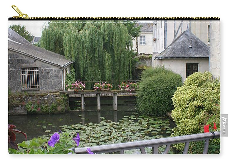 Village Carry-all Pouch featuring the photograph French Village by Christiane Schulze Art And Photography