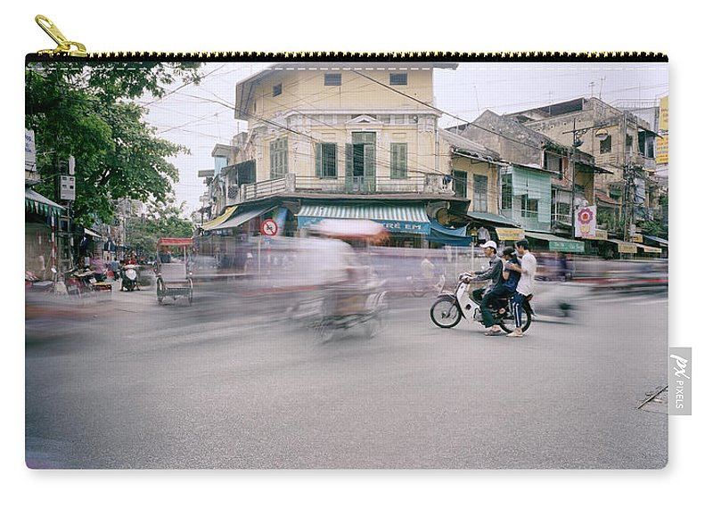 Asia Carry-all Pouch featuring the photograph Frenetic Hanoi by Shaun Higson