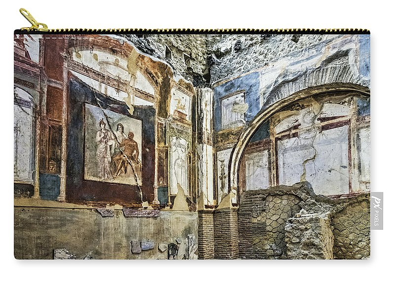 Archeology Carry-all Pouch featuring the photograph Fresco by Maria Coulson