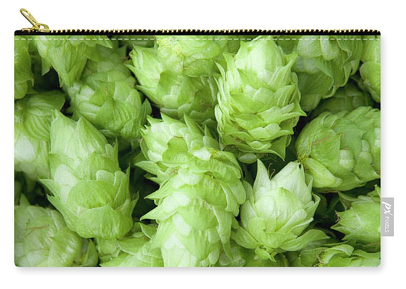 Alcohol Carry-all Pouch featuring the photograph Fresh Hops by Licreate