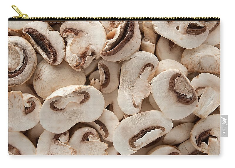Kitchen Carry-all Pouch featuring the photograph Fresh Mushrooms by Steve Gadomski