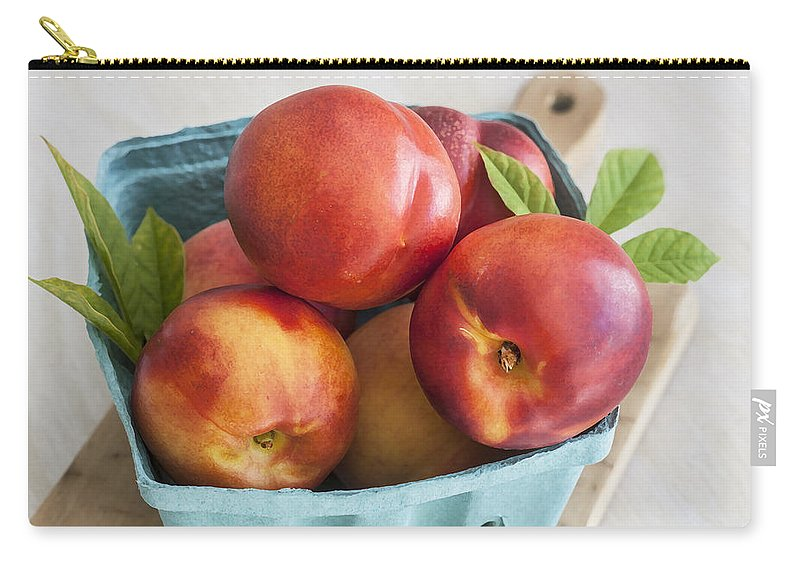 Nectarines Carry-all Pouch featuring the photograph Fresh Nectarines by Rich Franco