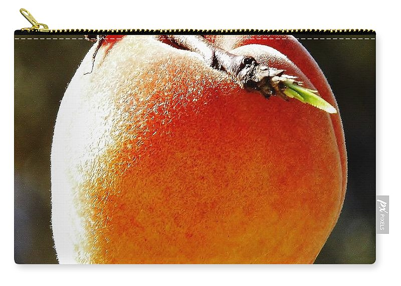 Peach Carry-all Pouch featuring the photograph Fresh Peach by D Hackett