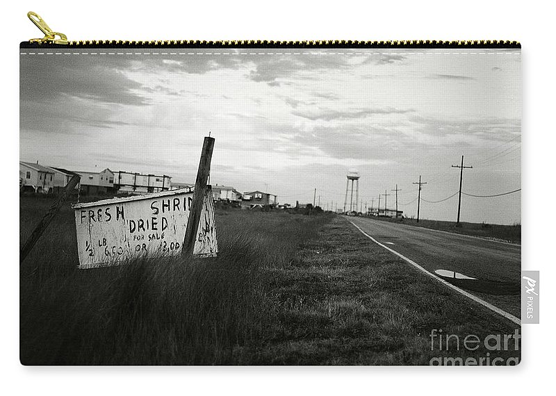 B&w Carry-all Pouch featuring the photograph Fresh Shrimp by Scott Pellegrin