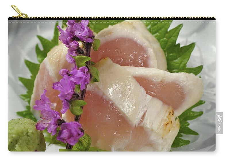 Japanese Food Carry-all Pouch featuring the photograph Fresh Slices Of The Bird Of by Ryouchin