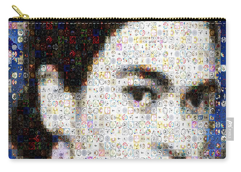 Mosaic Carry-all Pouch featuring the photograph Frida Kahlo Mosaic by Paula Ayers