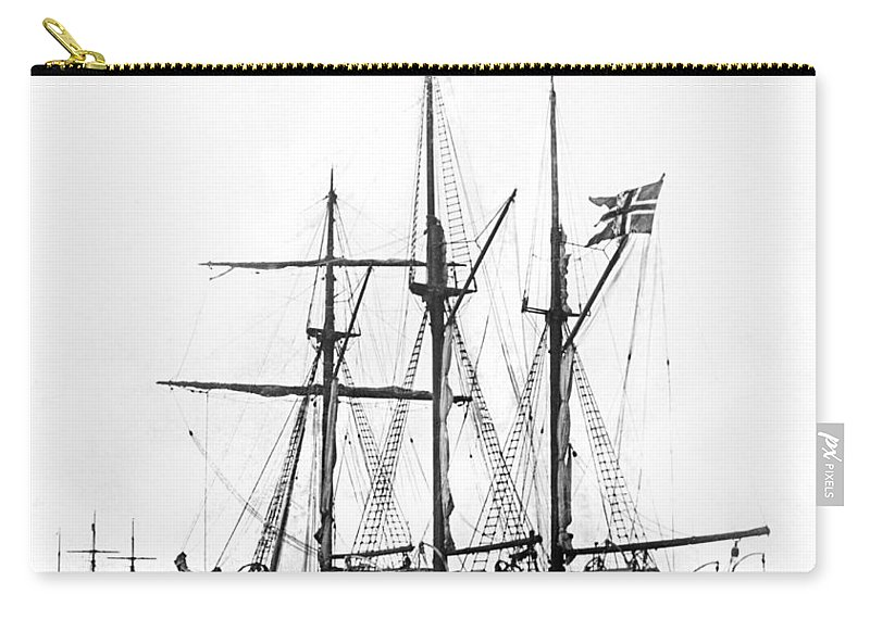 1890's Carry-all Pouch featuring the photograph Fridtjof Nansen's Ship, Fram by Underwood Archives