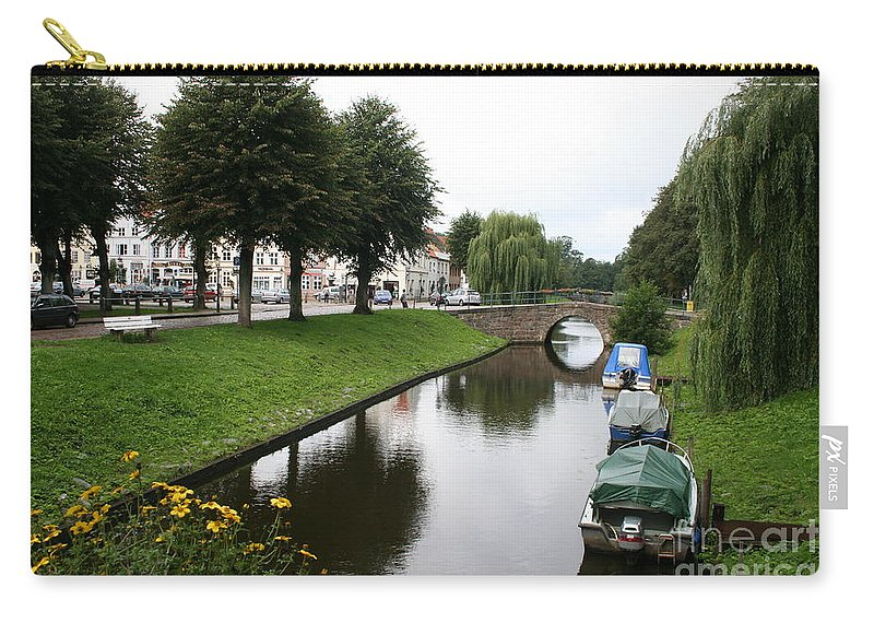 Town Canal Carry-all Pouch featuring the photograph Friedrichstadt - Germany by Christiane Schulze Art And Photography
