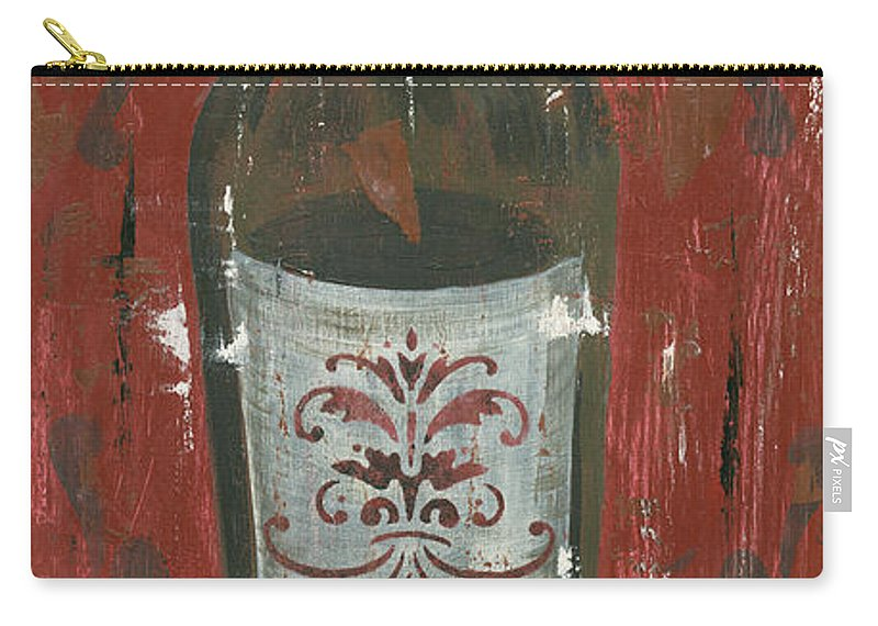 Wine Carry-all Pouch featuring the painting Friendships Like Wine by Debbie DeWitt