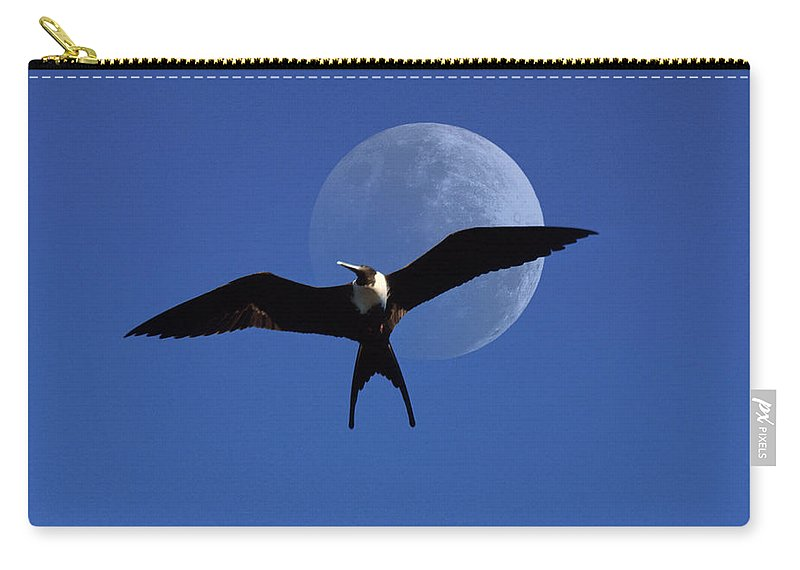 Frigate Carry-all Pouch featuring the photograph Frigatebird Moon by Jerry McElroy