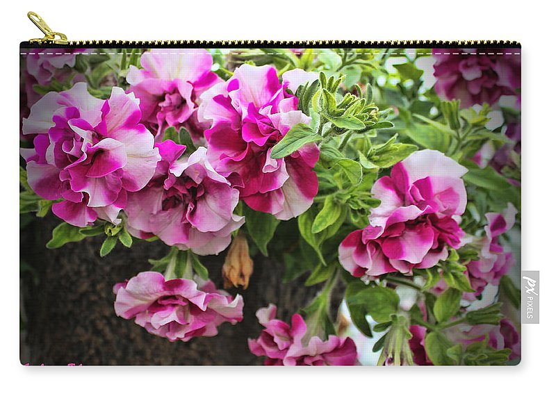 Pink Geranium Carry-all Pouch featuring the photograph Frills by Sylvia Thornton
