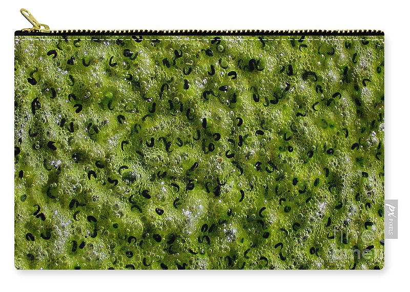 Frog Spawn Macro Carry-all Pouch featuring the photograph Frog Spawn by Joshua Bales