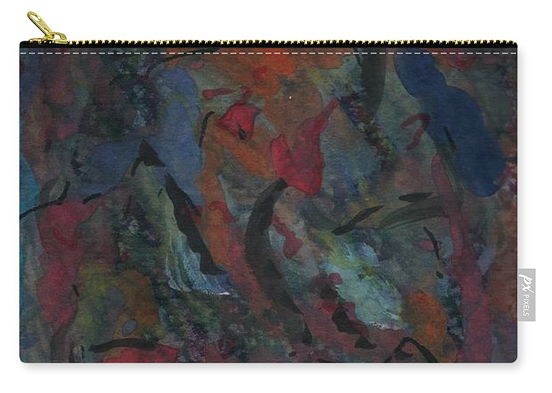 Abstract Carry-all Pouch featuring the painting From Deep Within by Myrtle Joy
