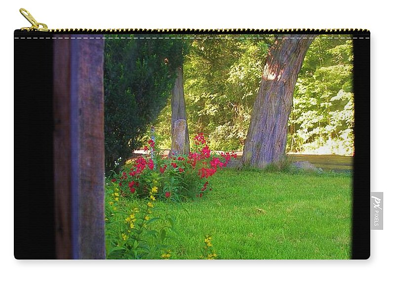 Looking Out Carry-all Pouch featuring the photograph From Inside Out by Sherman Perry