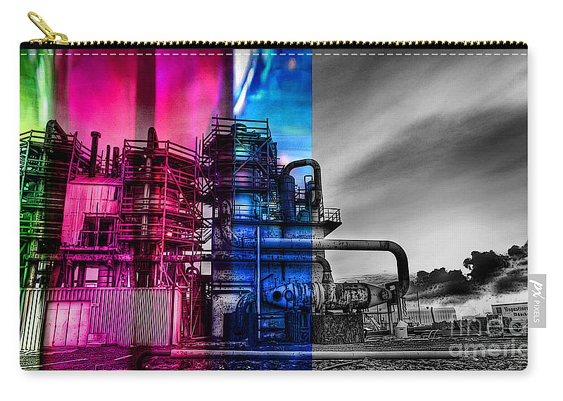 Home Art Carry-all Pouch featuring the mixed media From Light To Dark by Marvin Blaine