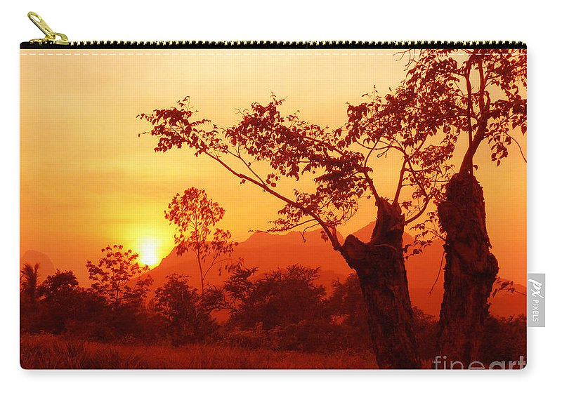 Landscape Carry-all Pouch featuring the photograph From Thailand With Love 03 by Pusita Gibbs