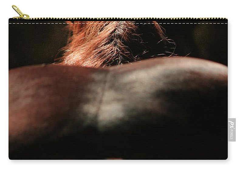 Horse Carry-all Pouch featuring the photograph From The Back by Angel Ciesniarska