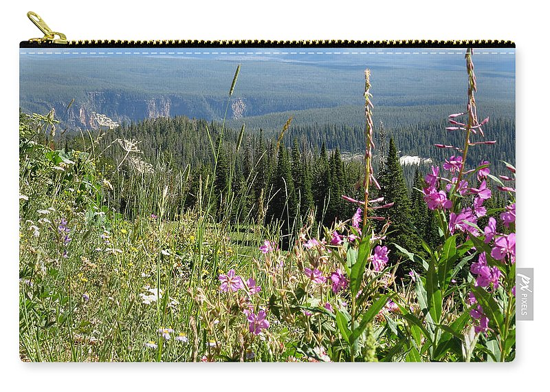Flowers Carry-all Pouch featuring the photograph From The Mountain by Laurel Powell