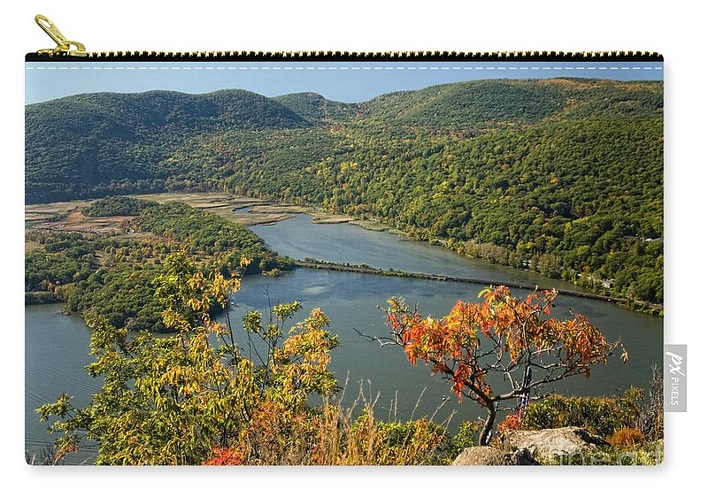 Hudson River Carry-all Pouch featuring the photograph From The Top by Claudia Kuhn