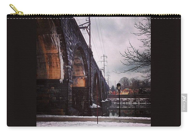 Ilovephilly Carry-all Pouch featuring the photograph From The Window Of A Speeding Car! J/k by Katie Cupcakes