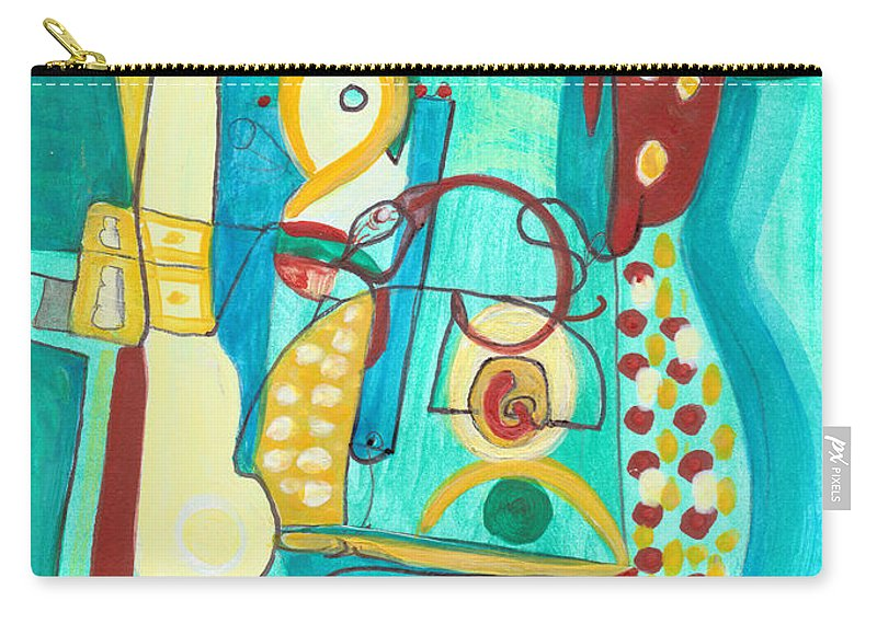 Abstract Art Carry-all Pouch featuring the painting From Within #20 by Stephen Lucas