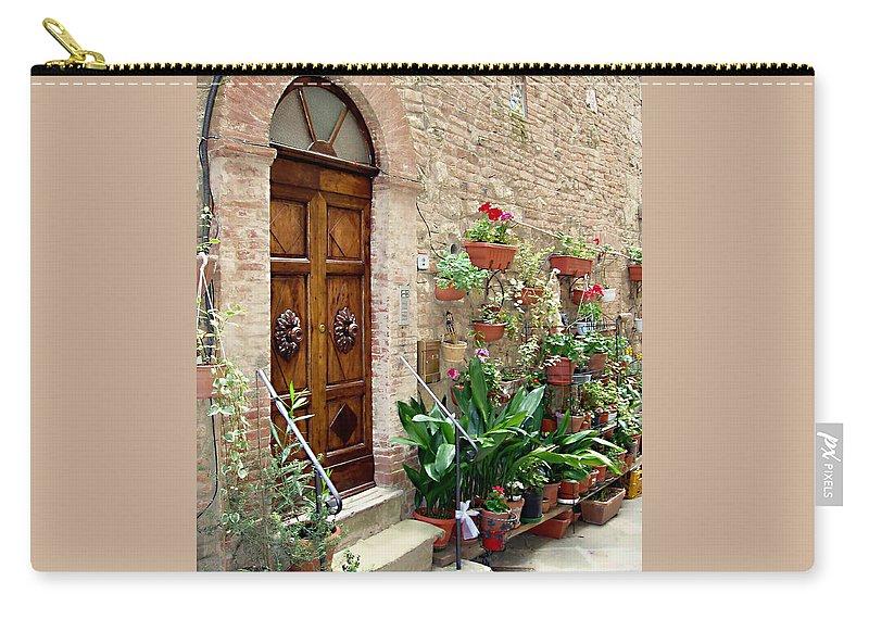 Front Door Carry-all Pouch featuring the photograph Front Door by Ellen Henneke