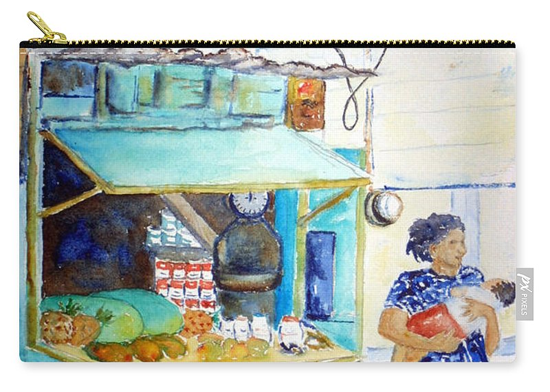 Front Street Carry-all Pouch featuring the painting Front Street Shop by Patricia Beebe
