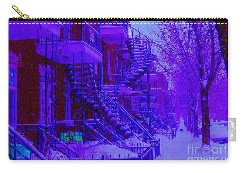 Montreal Carry-all Pouch featuring the photograph Frost On Winding Staircases by Carole Spandau