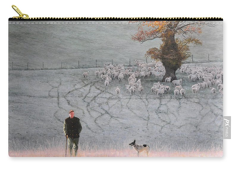 Landscape Carry-all Pouch featuring the painting Frosty Morning by Harry Robertson
