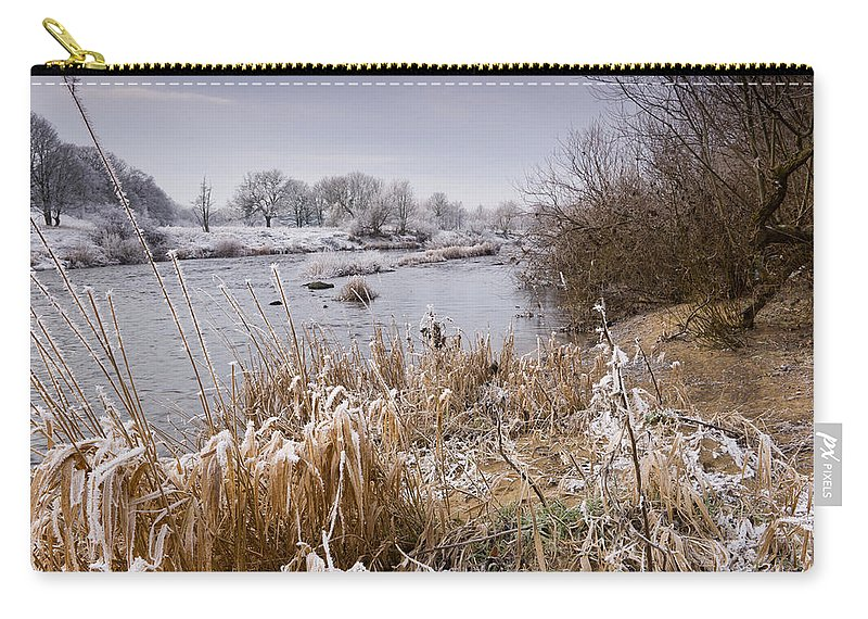 Northumberland Carry-all Pouch featuring the photograph Frosty River Tyne by David Head