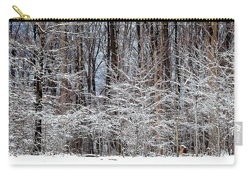 Snow Carry-all Pouch featuring the photograph Frosty by Frozen in Time Fine Art Photography