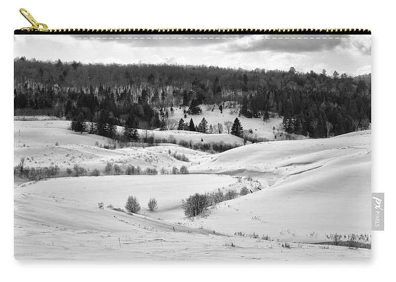 Chelsea Carry-all Pouch featuring the photograph Frozen Creek by Eunice Gibb