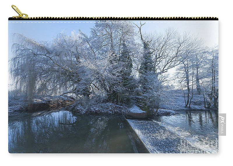 Birds Carry-all Pouch featuring the photograph Frozen Iseland by Svetlana Sewell