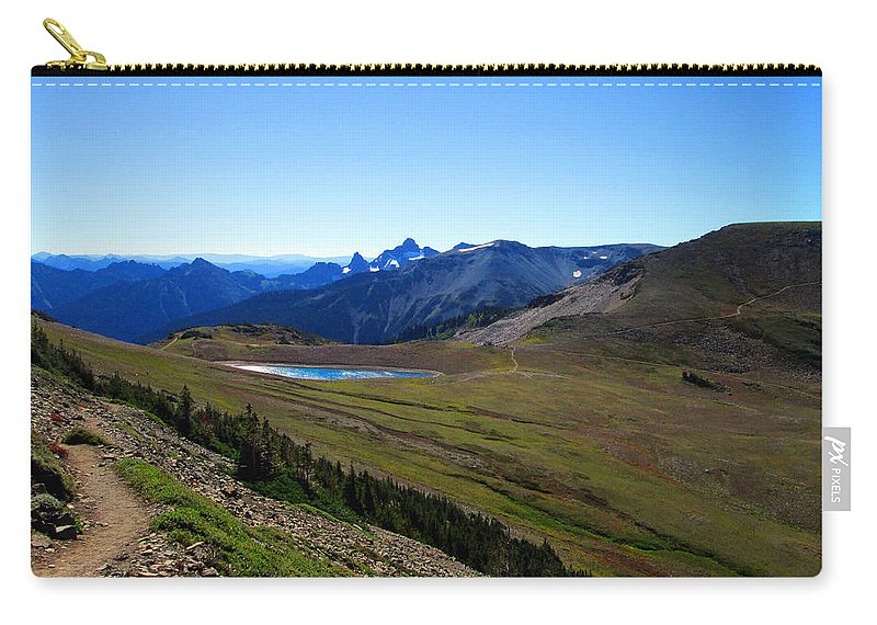Photograph Carry-all Pouch featuring the photograph Frozen Lake by Kathy Moll