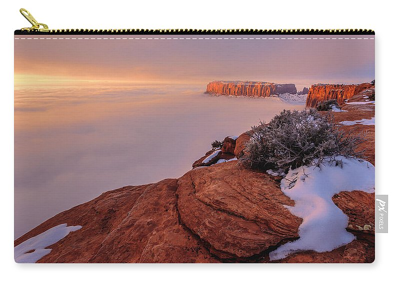 Canyonlands Carry-all Pouch featuring the photograph Frozen Mesa by Chad Dutson