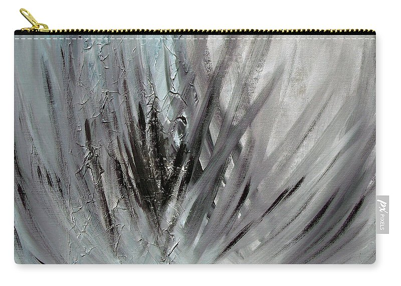 Abstract Carry-all Pouch featuring the painting Frozen by Sergey Bezhinets