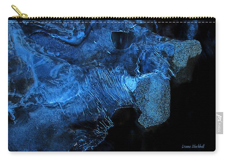 Abstract Carry-all Pouch featuring the photograph Frozen Stone Fish by Donna Blackhall