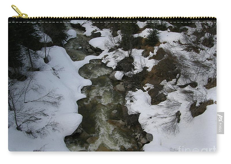 Frozen Stream In Ketchican Alaska Carry-all Pouch featuring the photograph Frozen Stream by Bev Conover