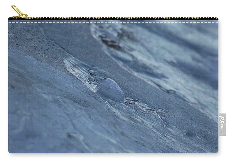 Abstract Carry-all Pouch featuring the photograph Frozen Wave by First Star Art