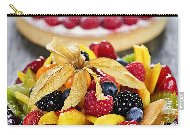 Tarts Carry-all Pouch featuring the photograph Fruit And Berry Tarts by Elena Elisseeva