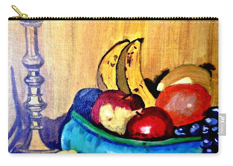 Still Life Carry-all Pouch featuring the painting Fruit by Jo-Ann Hayden