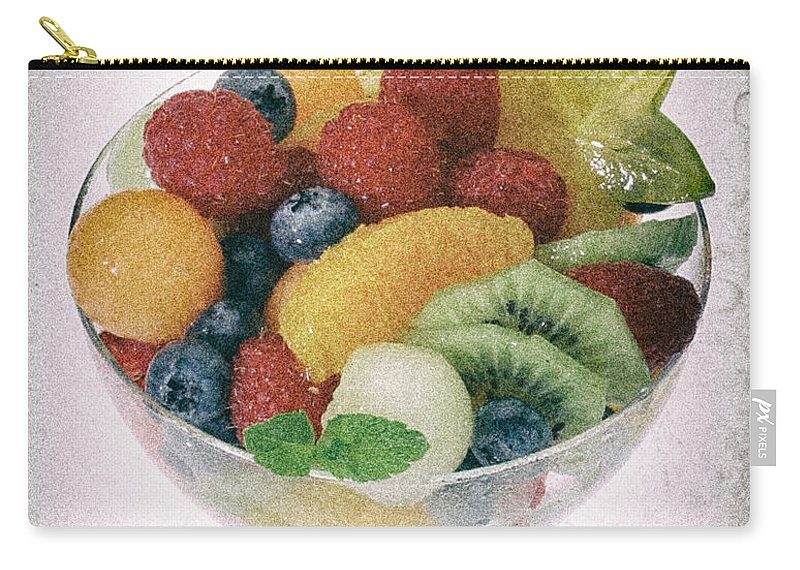 Food Carry-all Pouch featuring the photograph Fruit Salad Cup Disteressed by Iris Richardson