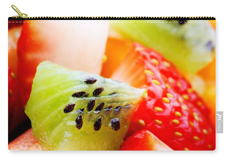 Fruit Carry-all Pouch featuring the photograph Fruit Salad Macro by Johan Swanepoel